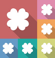 Four leaf clover icon vector image