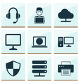 gadget icons set collection of personal computer vector image vector image