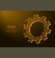 gear made points and lines mechanical vector image