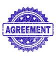 grunge agreement stamp seal vector image