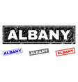 grunge albany scratched rectangle watermarks vector image vector image