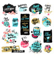 hand drawn watercolor labels and badges of summer vector image vector image