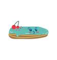 happy cute delicious eclair cartoon character vector image