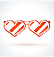 heart shaped sunglasses st valentines day design vector image vector image