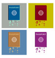 international passport template with sample vector image vector image