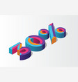 isometric 30 percent off 3d sale background vector image vector image