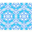 kaleidoscopic bright blue flower ornament vector image vector image