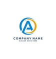 letter a logo template vector image