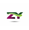 Letter Z and Y monogram logo vector image vector image