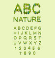 nature alphabet tree font forest alphabet letter vector image vector image