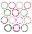 nordic circle frames vector image vector image