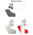 Northwest Territories blank outline map set vector image vector image