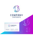 o company logo design with visiting card vector image vector image