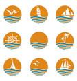 ocean logos set vector image