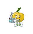 photographer ripe araza cartoon with character vector image vector image