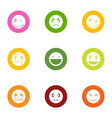relation icons set flat style vector image vector image