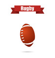 rugby ball with shadow vector image vector image