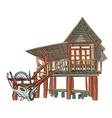 Rustic building vector image