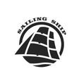 sailing ship logo symbol vector image vector image