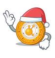 santa bitconnect coin character cartoon vector image vector image