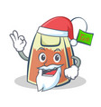 santa tea bag character cartoon vector image vector image