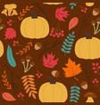 seamless autumn pattern with pumpkin vector image vector image