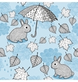Seamless pattern with autumn wind doodle umbrella vector image vector image