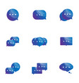 set speech bubble icons vector image