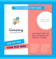 shells company brochure template busienss template vector image vector image