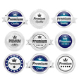Silver Premium Quality Badges vector image vector image