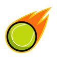 sport ball fire tennis vector image vector image