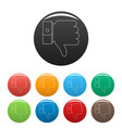 thumb down icons set color vector image