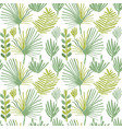 tropical greenery flower seamless pattern vector image