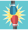 Two boxing gloves fighting vector image vector image