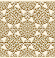 vintage gold pattern with round ornaments vector image