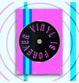 vinyl is forever slogan design for vintage poster vector image vector image