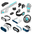 virtual reality vc gaming digital device or vector image vector image
