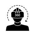 virtual reality video glyph icon vector image