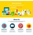 Web Tutorials Flat Web Design Template vector image