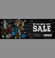 welcome back to school sale horizontal banner vector image vector image