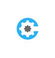 wheel letter c logo icon design vector image