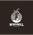 windmill logo template building in farm logo vector image vector image