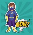 woman flying superhero vector image