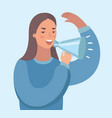 woman with loudspeaker making an announcement vector image vector image