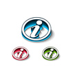 3d glossy information web icon vector image