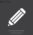 pencil premium icon white on dark background vector image