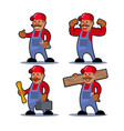 worker man mustache vector image