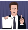 Businessman with document vector image