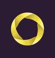 creative logo template ribbon in circle vector image