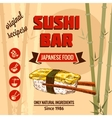 template of sushi menu vector image